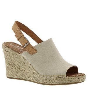 Toms Monica Natural Hem/Leather Wedge Sandals